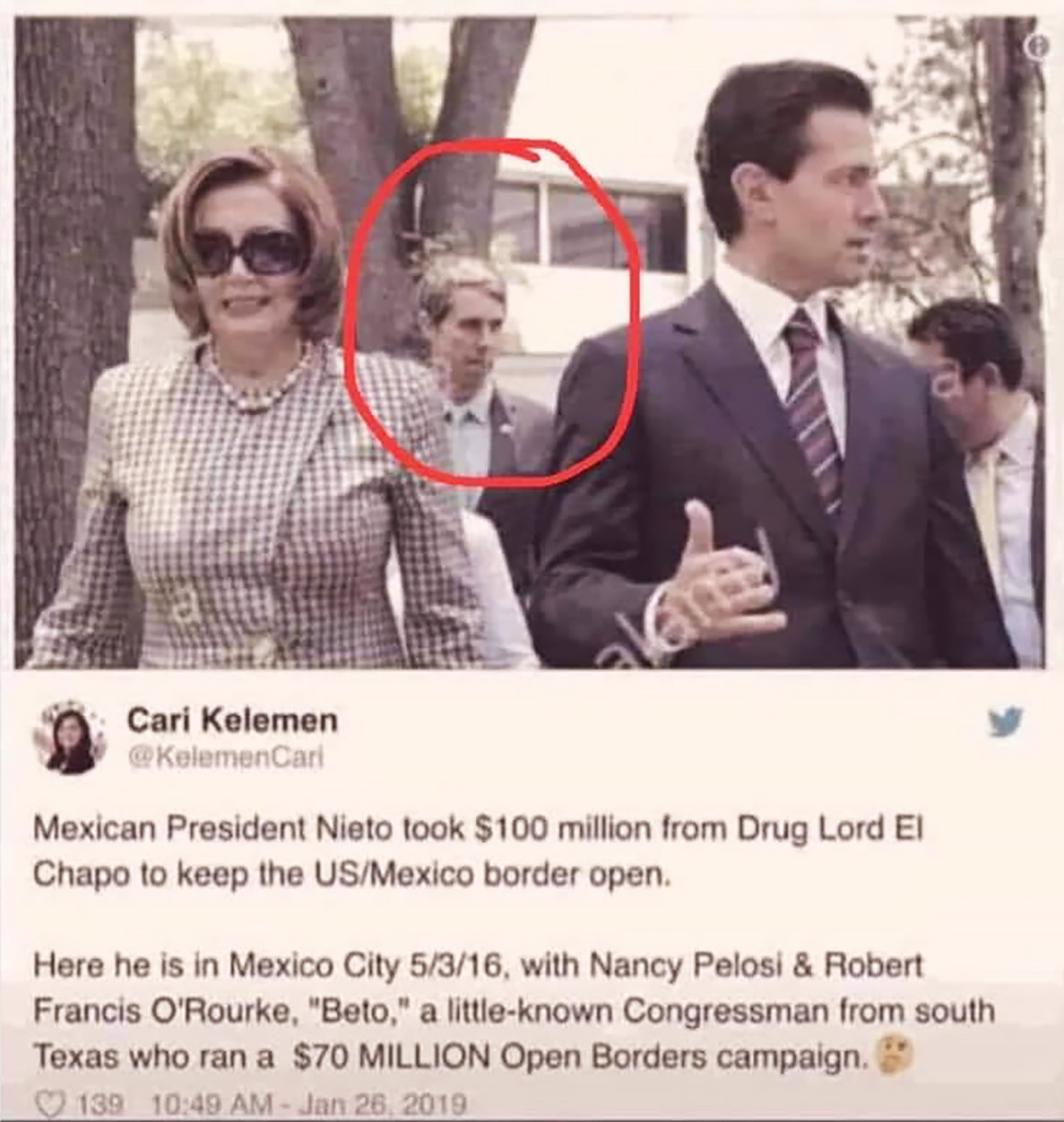Pelosi and Nieto In Mexico