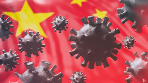 china flag corona virus