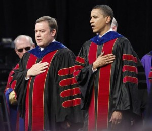 Arizona State University Michael Crow and President Obama. Why would Obama attend ASU's graduation?