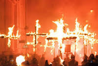 christians burning cross