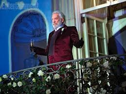 President Snow played by Donald Sutherland.