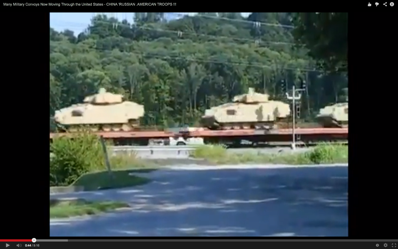 Are these Chinese fighting vehicles near Louisville, Kentucky?