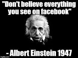 einstein and facebook